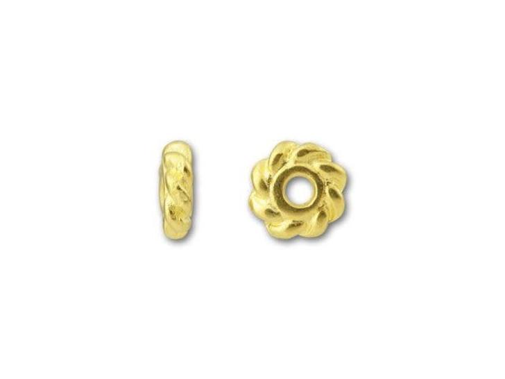 TierraCast Gold 4mm Twist Heishi Spacer