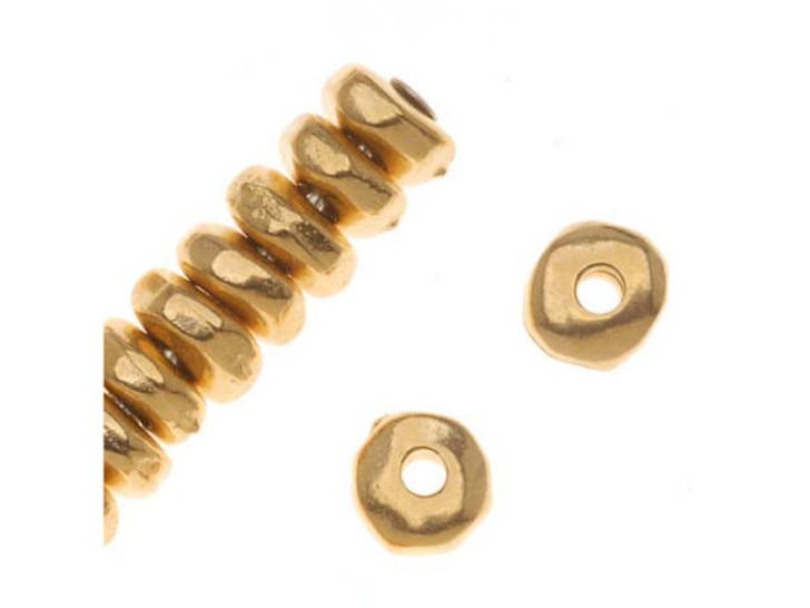 TierraCast Gold 5mm Nugget Heishi Spacer