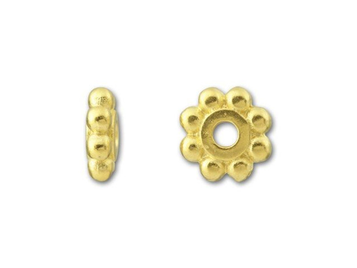 TierraCast Gold 6mm Beaded Heishi Daisy Spacer