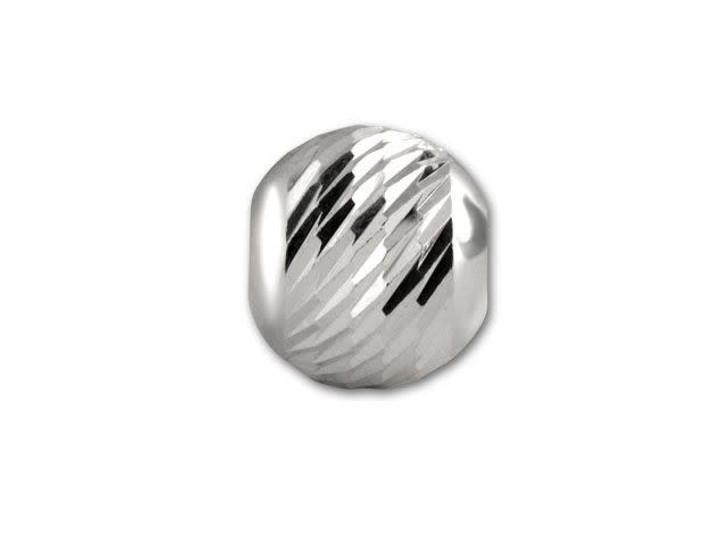 6mm Sterling Round Multi-Cut Bead