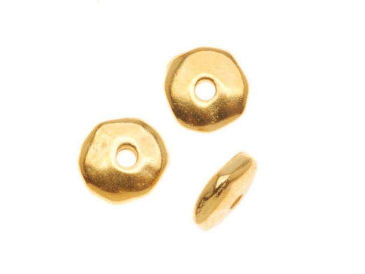 TierraCast Gold 7mm Nugget Heishi Spacer