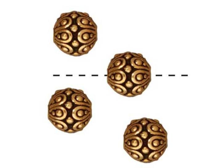 TierraCast Gold Antique Casbah Round Bead