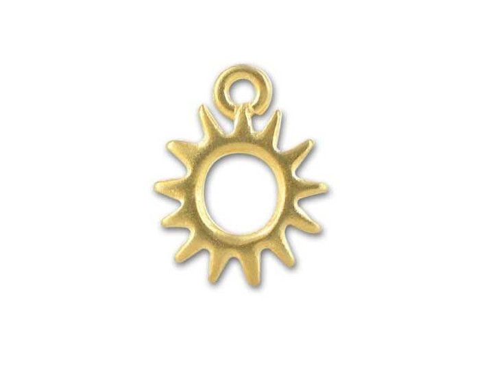 TierraCast Gold Radiant Sun Charm