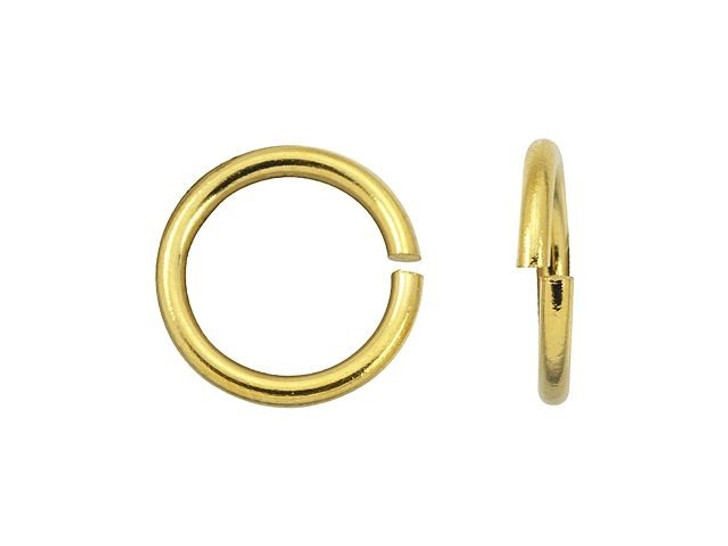 TierraCast Gold-Plated 6mm Round 19 Gauge Open Jump Ring