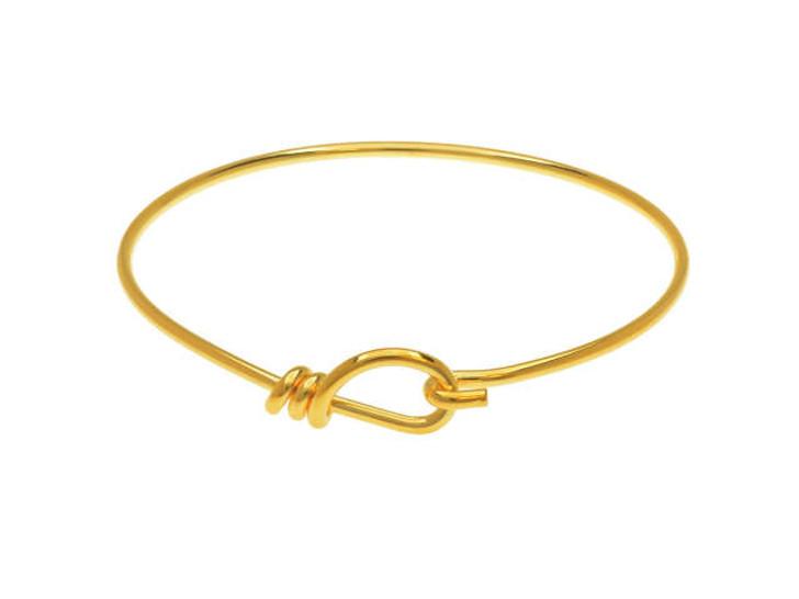 TierraCast Gold-Plated Brass Handmade 12 Gauge Wire Bangle Bracelet
