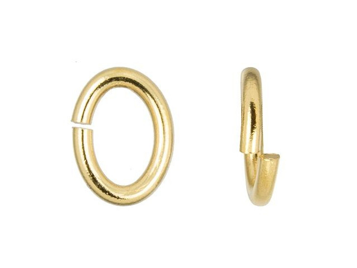 TierraCast Gold-Plated Brass Large Oval Open Jump Ring