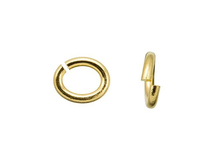 TierraCast Gold-Plated Brass Small Oval Open Jump Ring