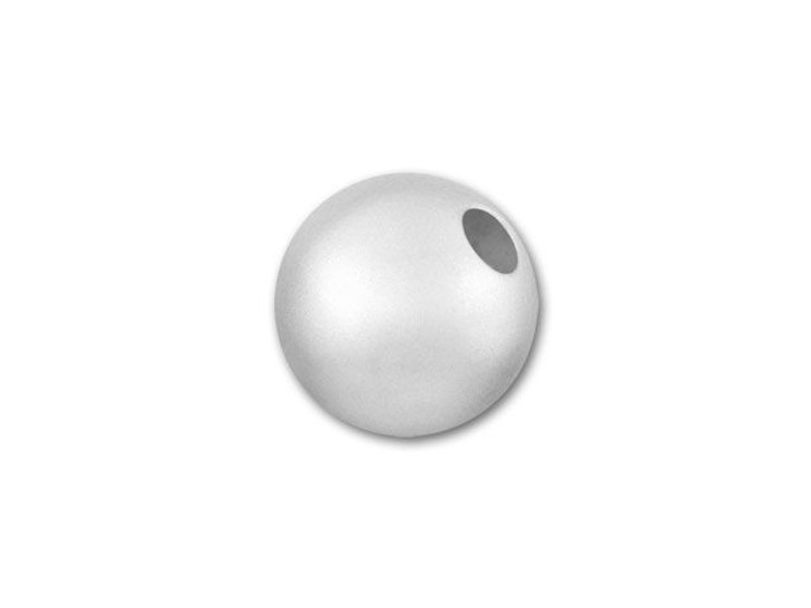 6mm Sterling Silver Seamless Round Bead (Matte/Satin)