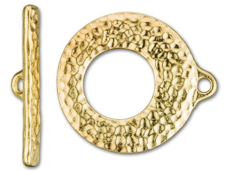 TierraCast Gold-Plated Pewter Artisan Toggle Set