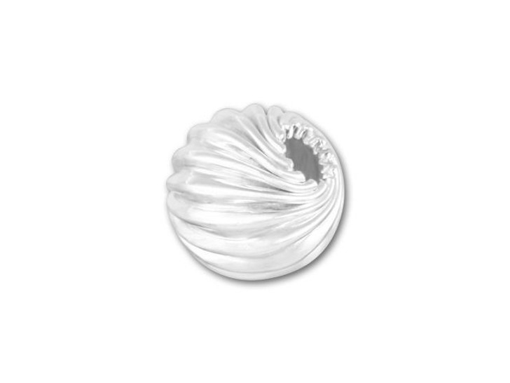 6mm Twisted Round Bead (Sterling Silver)