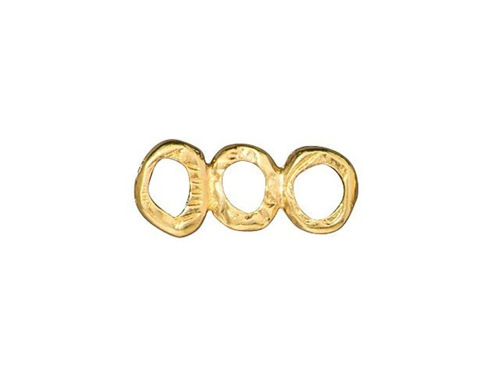 TierraCast Gold-Plated Pewter Intermix 3-Ring-Bar Link
