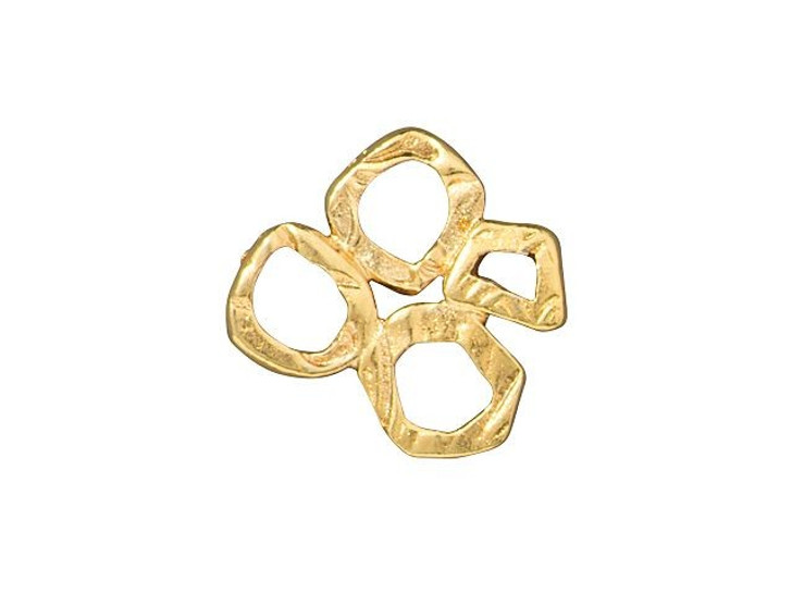TierraCast Gold-Plated Pewter Intermix 4-Rings Link