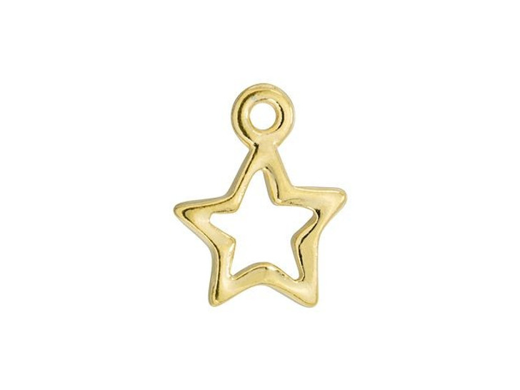 TierraCast Gold-Plated Pewter Open Star Drop