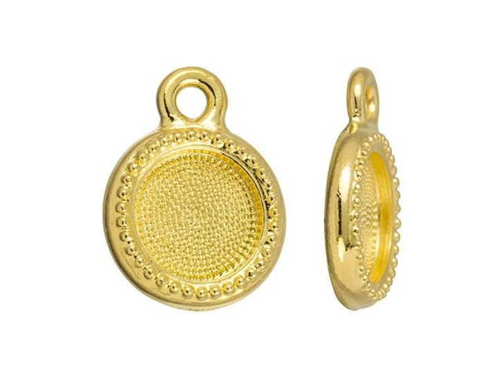 TierraCast Gold-Plated Pewter SS34 Glue-In Bezel Charm