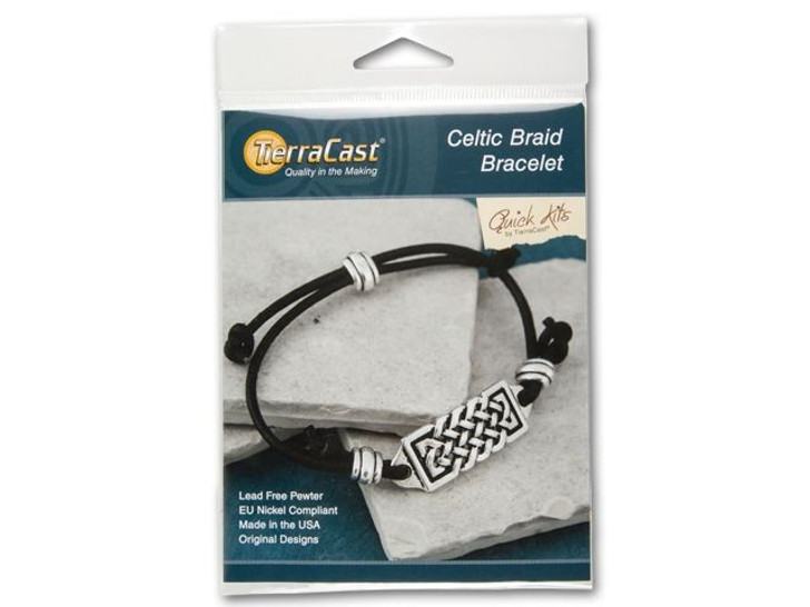 TierraCast Leather Celtic Braid Bracelet Kit