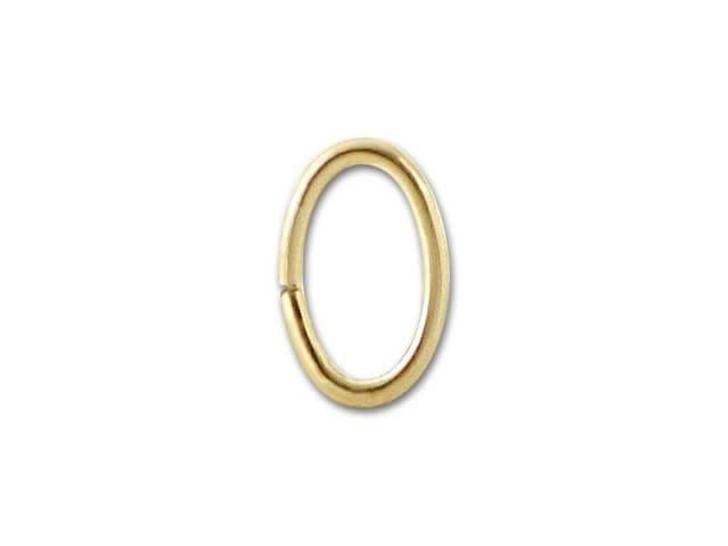 6x4mm Gold-Filled 14K/20 Oval Jump Ring, 20 gauge