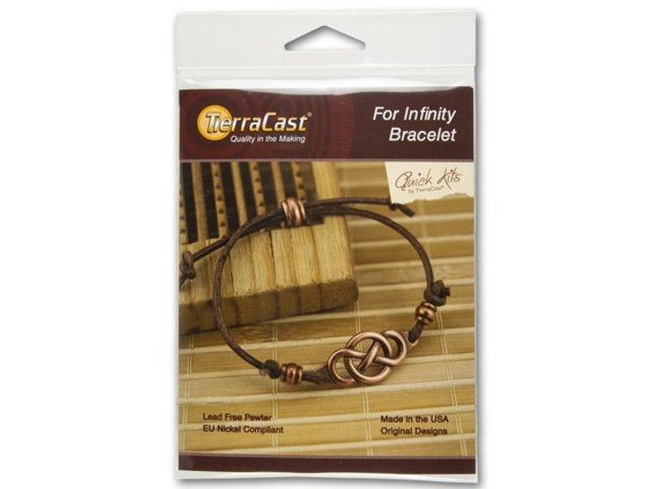 TierraCast Leather For Infinity Bracelet Kit