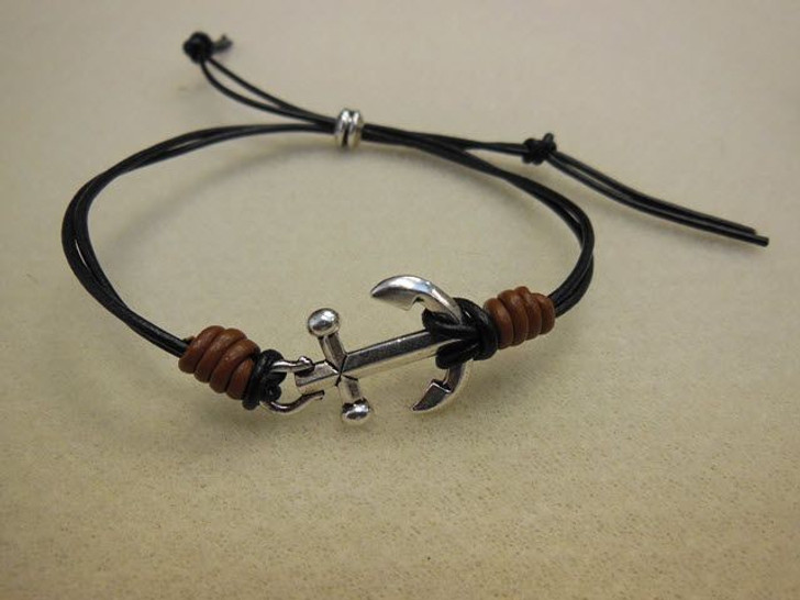 TierraCast Leather Knotted Anchor Bracelet Kit