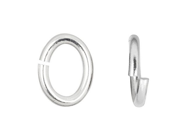 TierraCast Rhodium-Plated Brass Large Oval Open Jump Ring