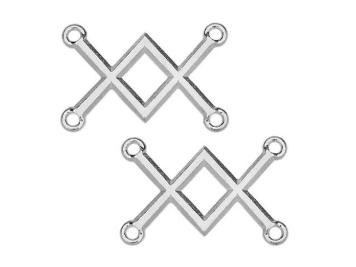 TierraCast Rhodium-Plated Pewter Criss-Cross Link