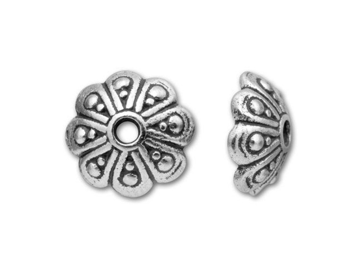 TierraCast Silver Antique Oasis Bead Cap