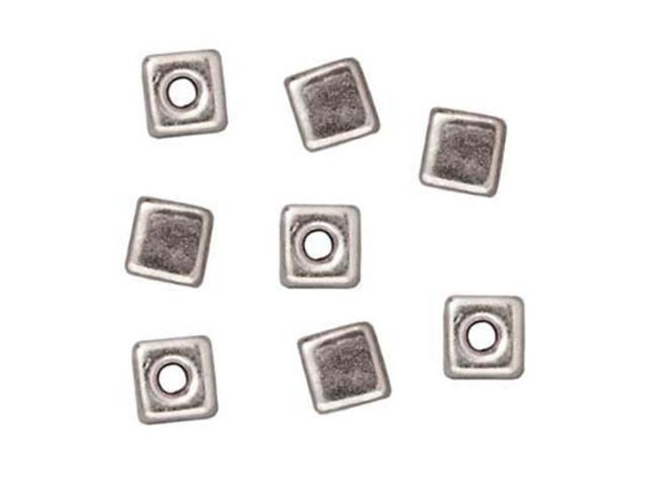 TierraCast Silver Cube Bead