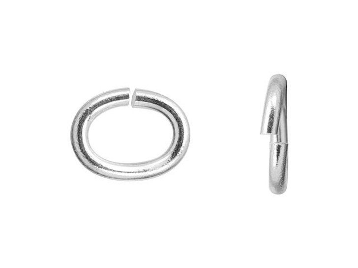 TierraCast Silver-Plated Brass Medium Oval Open Jump Ring (Min Qty 10)
