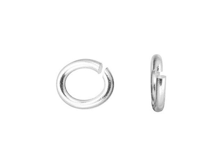 TierraCast Silver-Plated Brass Small Oval Open Jump Ring