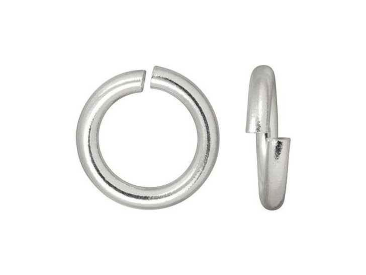 TierraCast Silver-Plated Open Round Jump Ring