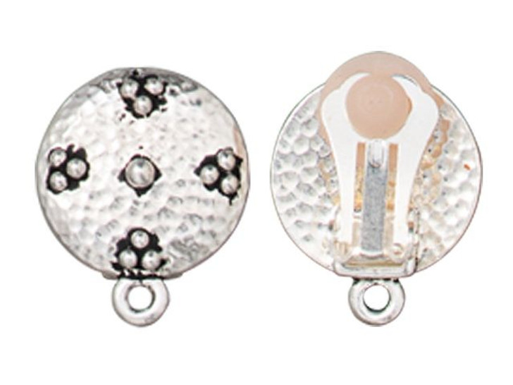 TierraCast Silver-Plated Pewter Opulence Clip Earring (Pair)