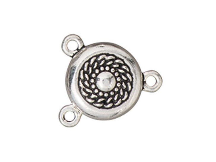 TierraCast Silver-Plated Pewter Opulence Magnetic Clasp Set