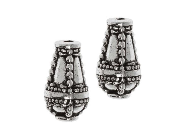 TierraCast Silver-Plated Pewter Opulence Teardrop Bead
