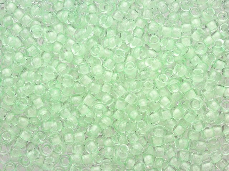 TOHO 8/0 Glow in the Dark Mint Green/Bright Green Round Bead 2.5-Inch Tube