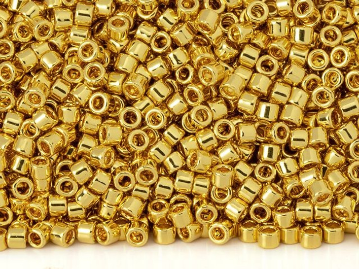 TOHO Aiko 11/0 24K Gold Plate Precision Cylinder Seed Beads, 4g Pack