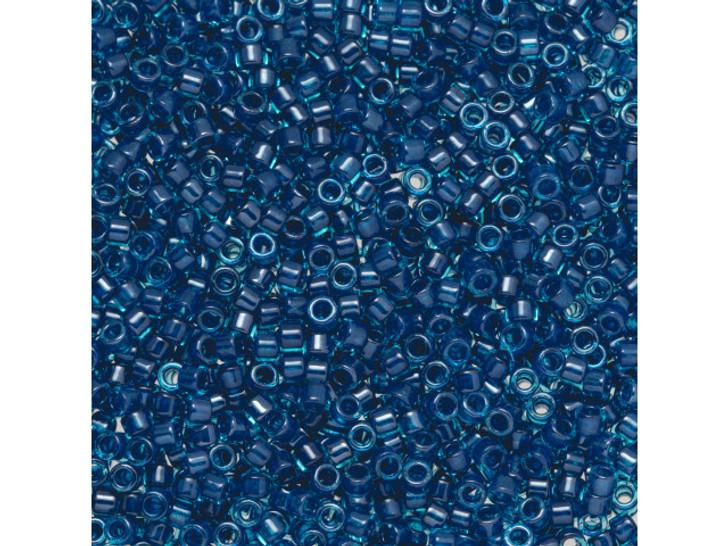 TOHO Aiko 11/0 Capri-Lined Aqua Precision Cylinder Seed Beads, 4g Pack