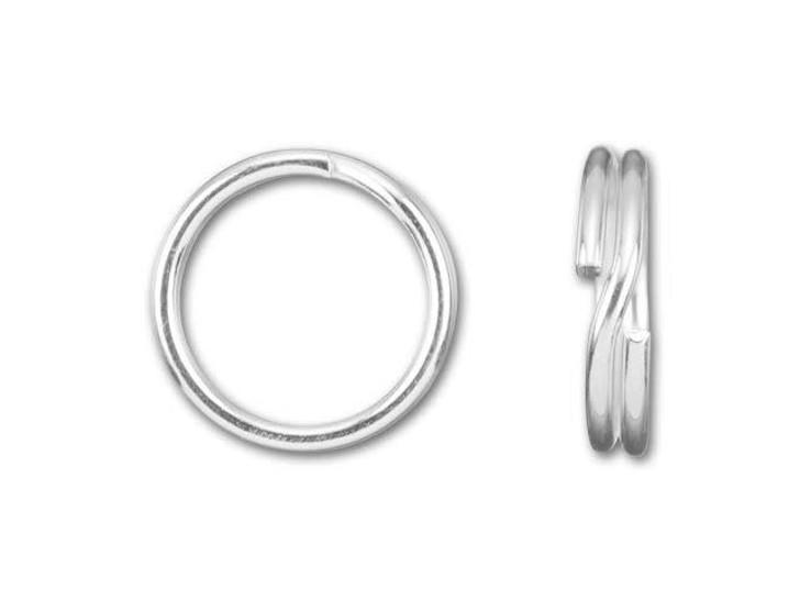 7mm Sterling Silver Split Ring