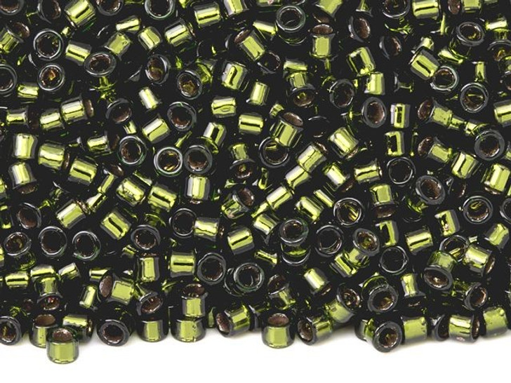TOHO Aiko 11/0 Copper-Lined Olive Precision Cylinder Seed Beads, 4g Pack