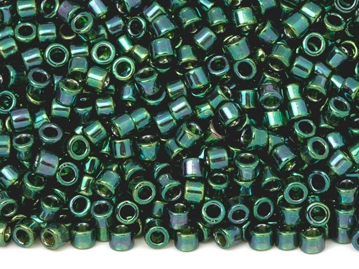 TOHO Aiko 11/0 Emerald Gold Luster Precision Cylinder Seed Beads, 4g Pack