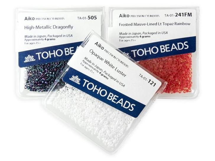 TOHO Aiko 11/0 Galvanized Merlot Precision Cylinder Seed Beads, 4g Pack