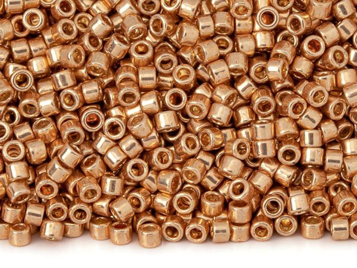TOHO Aiko 11/0 Galvanized Rose Gold Precision Cylinder Seed Beads, 4g Pack