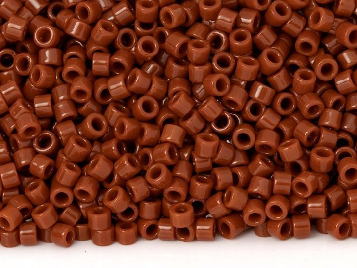 TOHO Aiko 11/0 Opaque Burnt Orange Precision Cylinder Seed Beads, 4g Pack