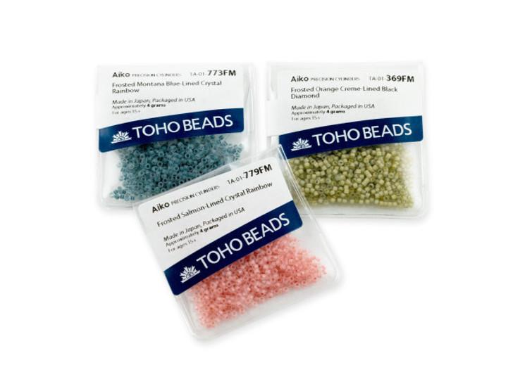 TOHO Aiko 11/0 Opaque Matte Butterscotch Precision Cylinder Seed Beads, 4g Pack
