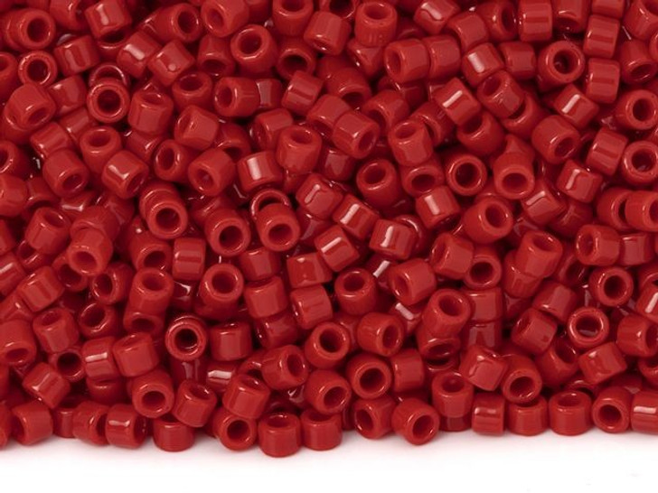 TOHO Aiko 11/0 Opaque Pepper Red Precision Cylinder Seed Beads, 4g Pack