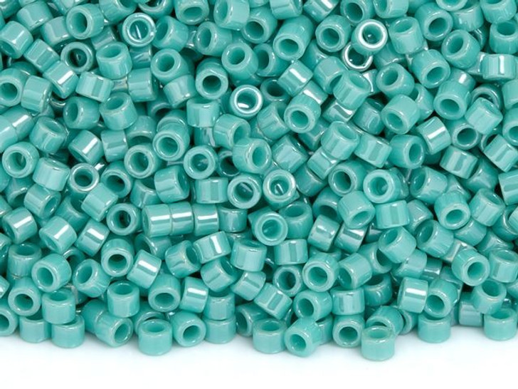 TOHO Aiko 11/0 Opaque Turquoise Luster Precision Cylinder Seed Beads, 4g Pack