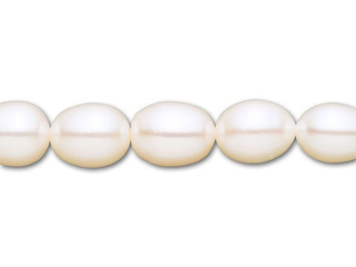 8.5-9.5mm White Rice Freshwater Pearl Strand
