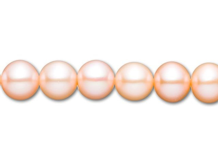 8.5-9mm Natural Color Round Freshwater Pearl Strand