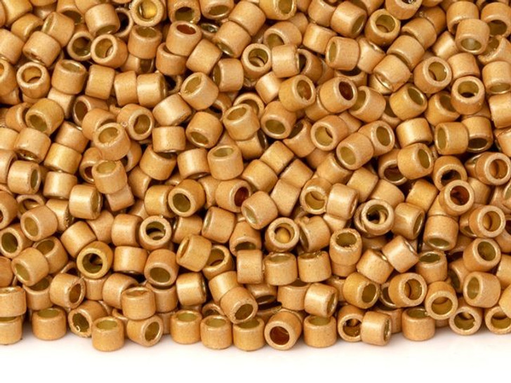TOHO Aiko 11/0 PermaFinish Galvanized Matte Rose Gold Precision Cylinder Seed Beads, 4g Pack