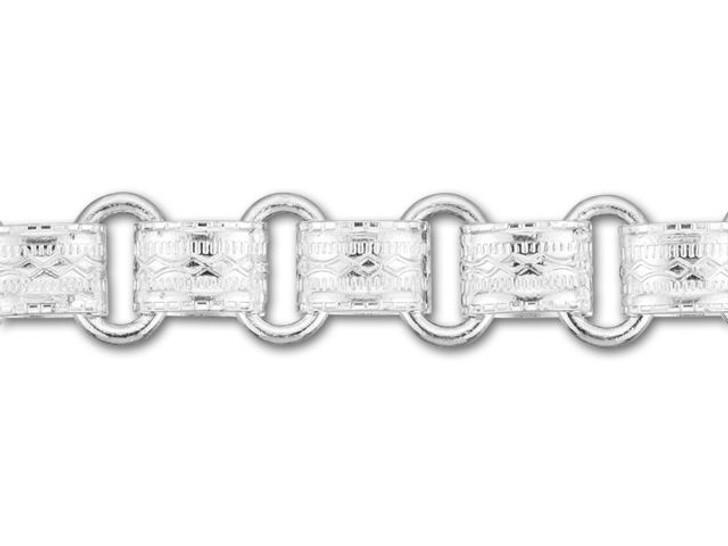 8.5mm Silver-Plated Vintage Reproduction Chain by the Foot