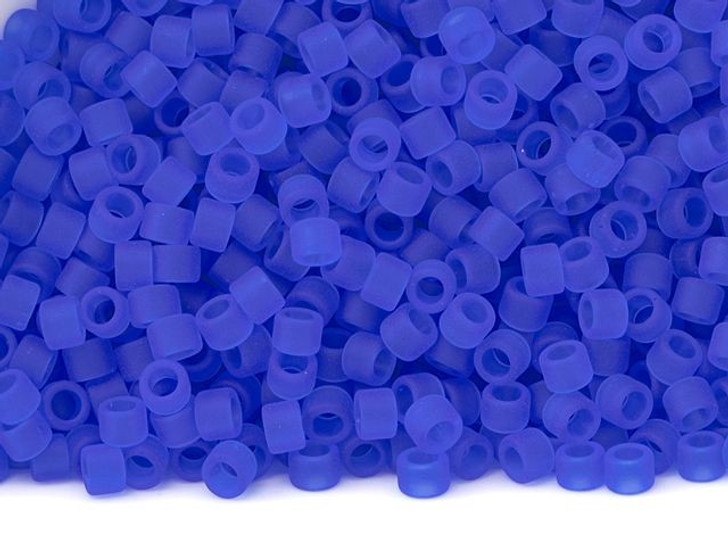 TOHO Aiko 11/0 Transparent Frosted Sapphire Precision Cylinder Seed Beads, 4g Pack