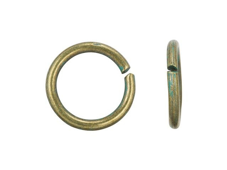 8mm 18g Brass Jump Ring with Patina Finish (100pc)